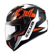 Capacete Zeus 811 Orange Black