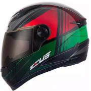 Capacete Zeus 811 Solid Black/j20 Green