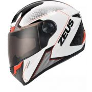 Capacete Zeus 811 Solid White Al6 Black Red