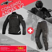 Conjunto Touring Alpinestars Andes V2 Jaqueta E Calça
