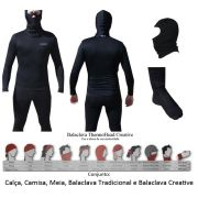 Kit  Segunda Pele Thermohead Extreme Cold ( Calça, Camisa, Meia, Duas Balaclava) - Unissex