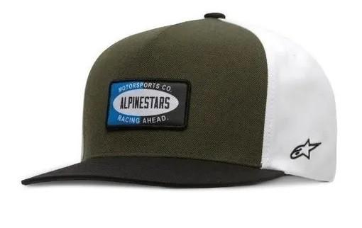 Boné Alpinestars Afternoon Hat Verde Branco  - Ditesta & Daihead - Moto Store