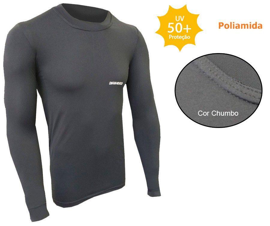 Camisa Dry Summer ICE  UV +50 - Cinza Chumbo  - Ditesta & Daihead - Moto Store
