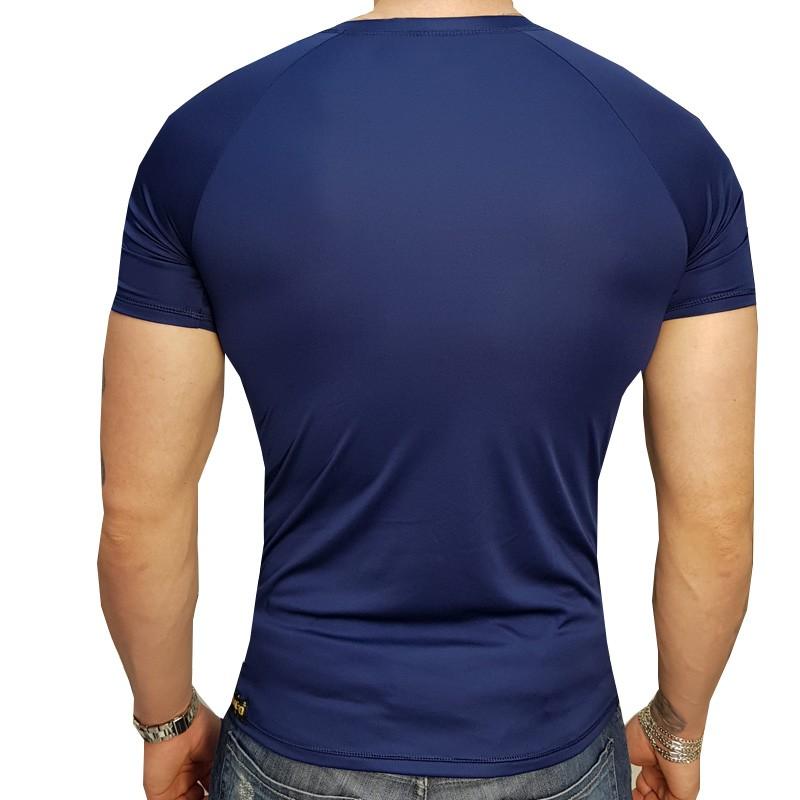 Camisa Manga Curta DryHead Azul Marinho  - Ditesta & Daihead - Moto Store