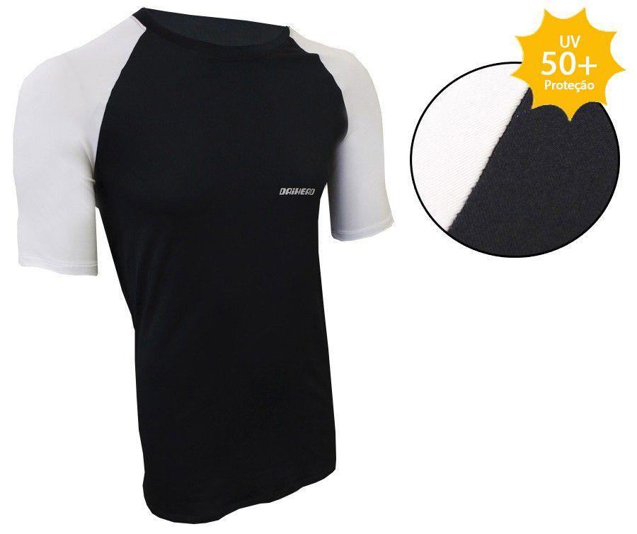 Camisa Manga Curta ThermoDry Summer UV + 50 - Preta / Branca  - Ditesta & Daihead - Moto Store