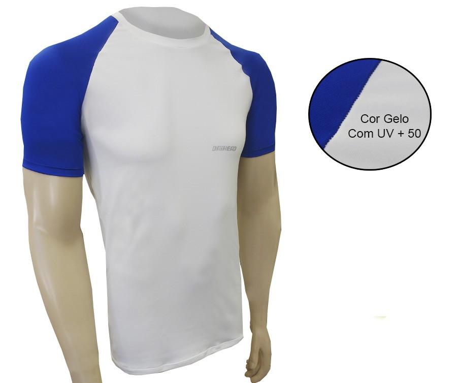 Camisa Manga Curta ThermoDry Summer UV + 50 - Branca / Azul  - Ditesta & Daihead - Moto Store