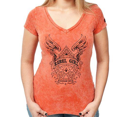Camiseta Baby look Kallegari Rebel Girl  - Ditesta & Daihead - Moto Store