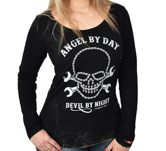 Camiseta Babylook - Angel By Day  - Ditesta & Daihead - Moto Store