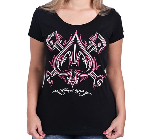 Camiseta Babylook - Az Pinstripe  - Ditesta & Daihead - Moto Store