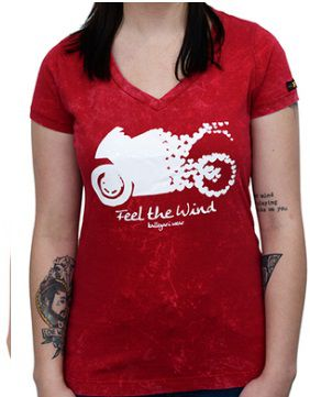 Camiseta Babylook Kallegari Feel The Wind  - Ditesta & Daihead - Moto Store