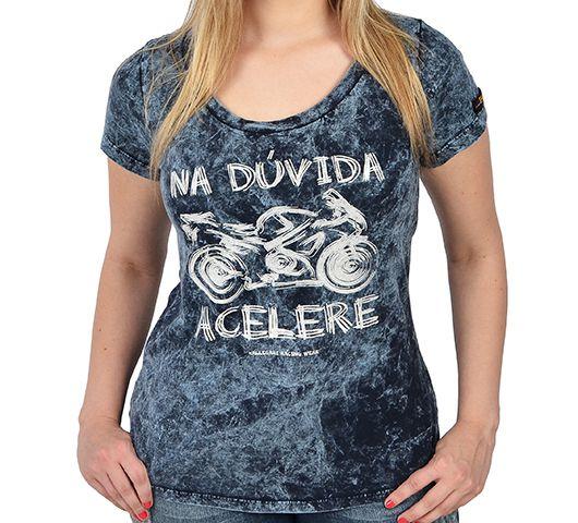 Camiseta Babylook Kallegari Na Dúvida Acelere  - Ditesta & Daihead - Moto Store
