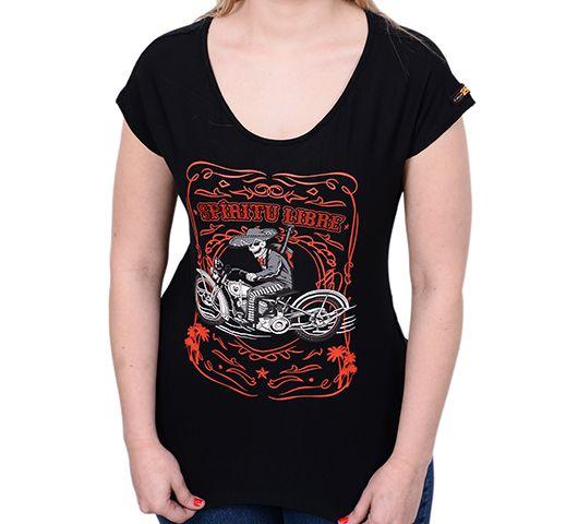 Camiseta Babylook Kallegari Spiritu Libre  - Ditesta & Daihead - Moto Store
