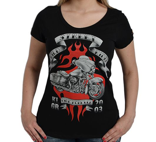 Camiseta Babylook Kallegari Wild Street Rider  - Ditesta & Daihead - Moto Store