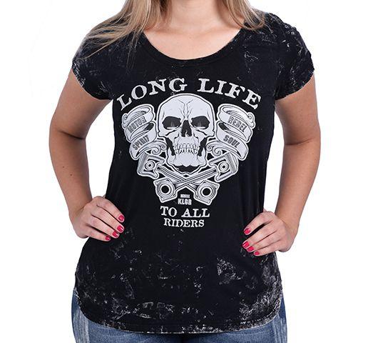 Camiseta Baby look Kallegari - Long Live  - Ditesta & Daihead - Moto Store
