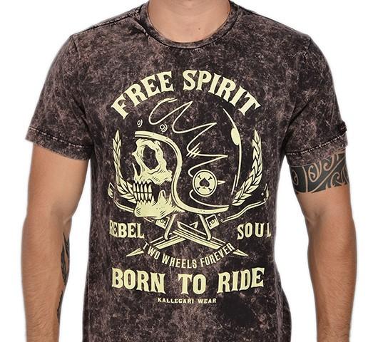 Camiseta Kallegari -  Born to Ride  - Ditesta & Daihead - Moto Store