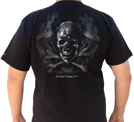 Camiseta Kallegari -  Cross Bones  - Ditesta & Daihead - Moto Store