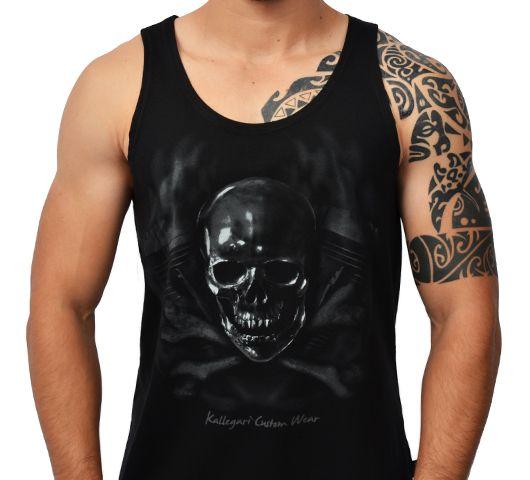 Camiseta Kallegari Cross Bones Regata  - Ditesta & Daihead - Moto Store
