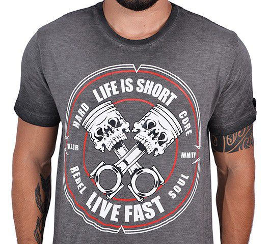 Camiseta Kallegari -  Cross Pistons  - Ditesta & Daihead - Moto Store