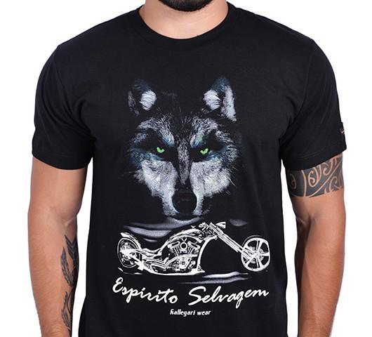 Camiseta Kallegari -  Espirito Selvagem  - Ditesta & Daihead - Moto Store
