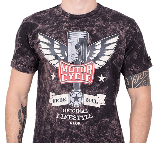 Camiseta Kallegari -  Flying Pistons  - Ditesta & Daihead - Moto Store