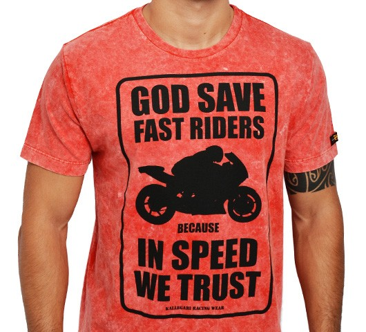 Camiseta Kallegari -  God Save Fast Rider  - Ditesta & Daihead - Moto Store