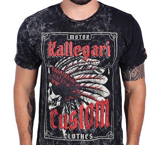 Camiseta Kallegari -  Indian Skull  - Ditesta & Daihead - Moto Store