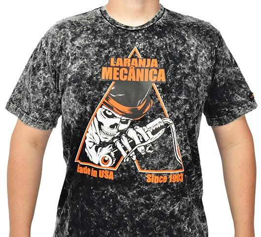 Camiseta Kallegari -  Laranja Mecânica  - Ditesta & Daihead - Moto Store