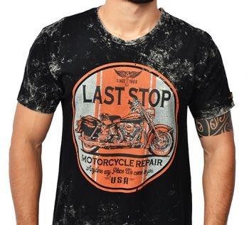 Camiseta Kallegari -  Last Stop  - Ditesta & Daihead - Moto Store