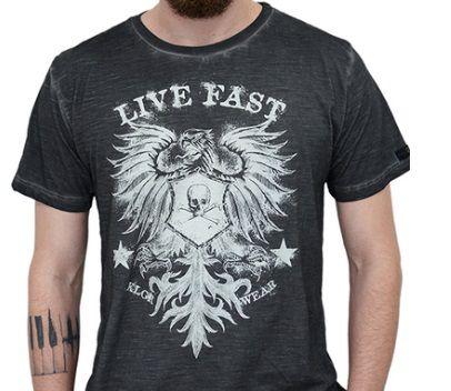 Camiseta Kallegari Live Fast  - Ditesta & Daihead - Moto Store