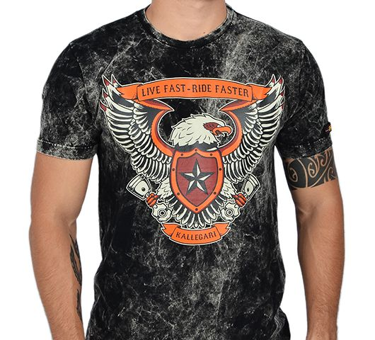 Camiseta Kallegari Live Fast Ride Faster  - Ditesta & Daihead - Moto Store