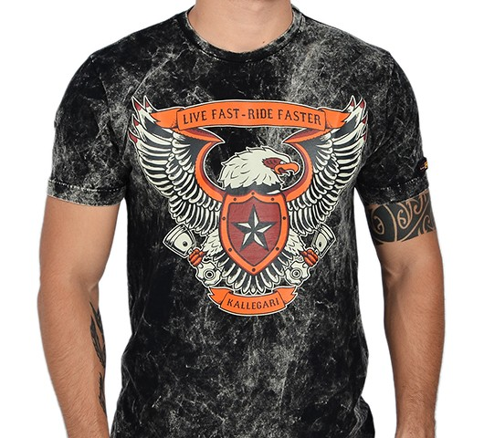 Camiseta Kallegari -  Live Fast Riders   - Ditesta & Daihead - Moto Store