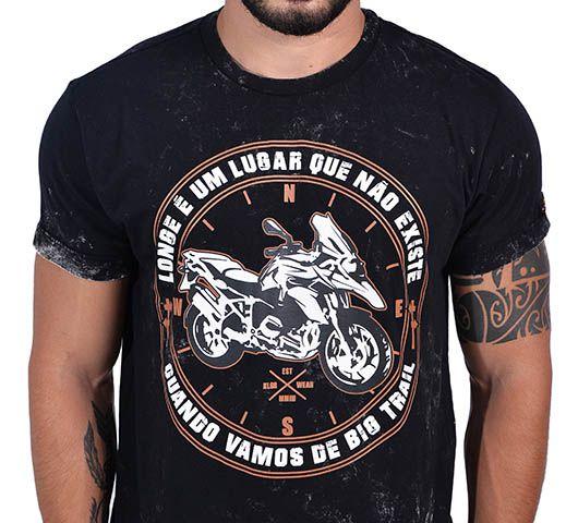 Camiseta Kallegari Longe é  - Ditesta & Daihead - Moto Store