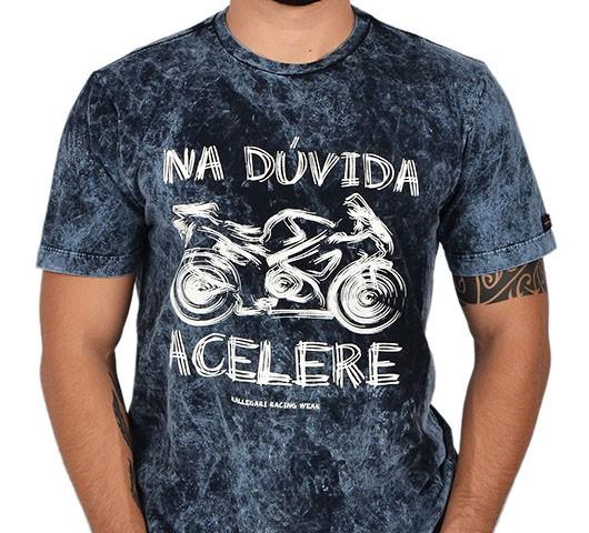 Camiseta Kallegari -  Na Dúvida Acelere  - Ditesta & Daihead - Moto Store