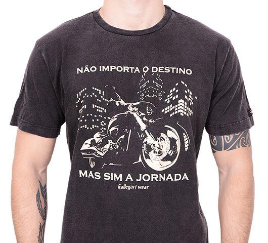 Camiseta Kallegari Não Importa O Destino  - Ditesta & Daihead - Moto Store