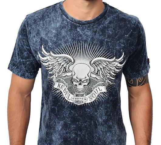 Camiseta Kallegari -  Rebel Soul  - Ditesta & Daihead - Moto Store