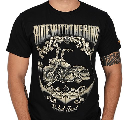 Camiseta Kallegari Ride With The King  - Ditesta & Daihead - Moto Store