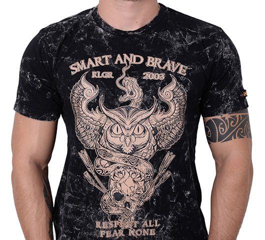 Camiseta Kallegari Smart And Brave  - Ditesta & Daihead - Moto Store