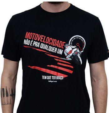 Camiseta Kallegari Tem Que Ter Braço   - Ditesta & Daihead - Moto Store