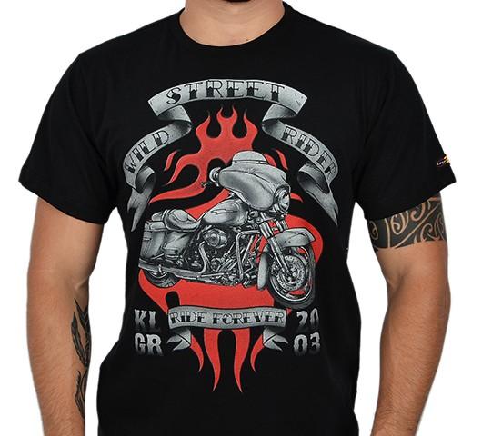 Camiseta Kallegari -  Wild Street Rider  - Ditesta & Daihead - Moto Store