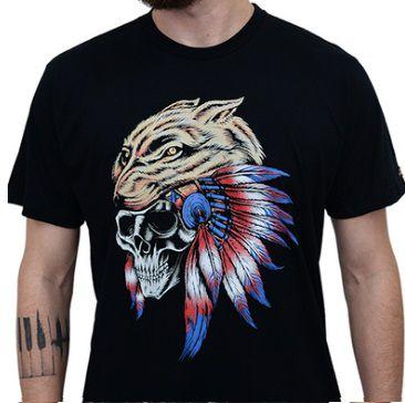 Camiseta Kallegari Wolf  - Ditesta & Daihead - Moto Store
