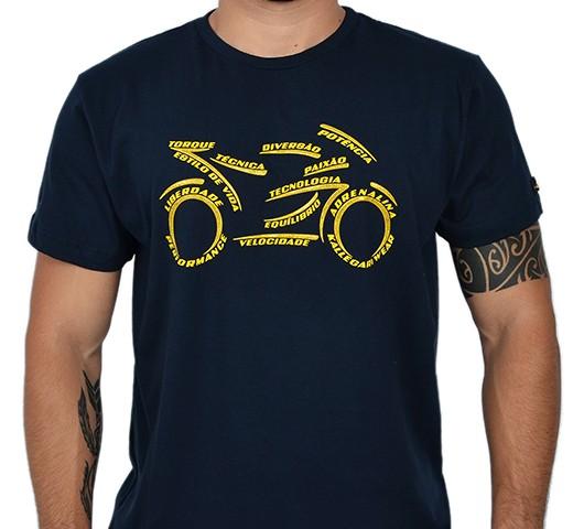 Camiseta Kallegari -  Word Bike  - Ditesta & Daihead - Moto Store