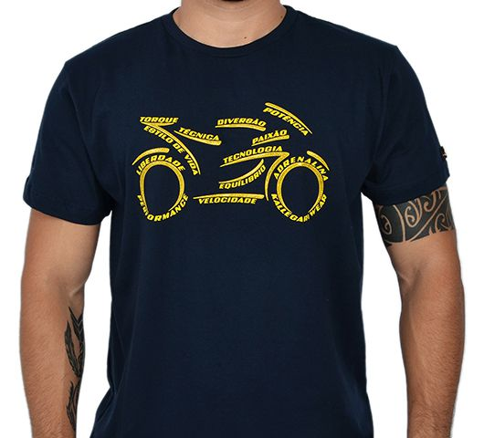 Camiseta Kallegari Word Bike  - Ditesta & Daihead - Moto Store