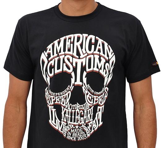 Camiseta Kallegari -  Word Skull  - Ditesta & Daihead - Moto Store
