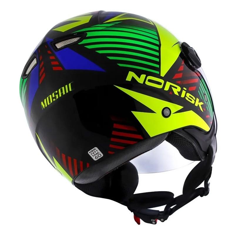 Capacete Aberto Norisk Orion Mosaic Amarelo Preto  - Ditesta & Daihead - Moto Store