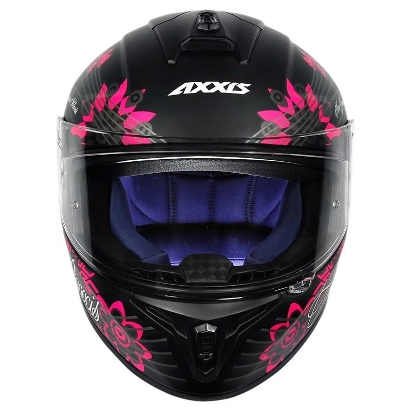 Capacete Axxis Draken Butterfly Matt Black  - Ditesta & Daihead - Moto Store