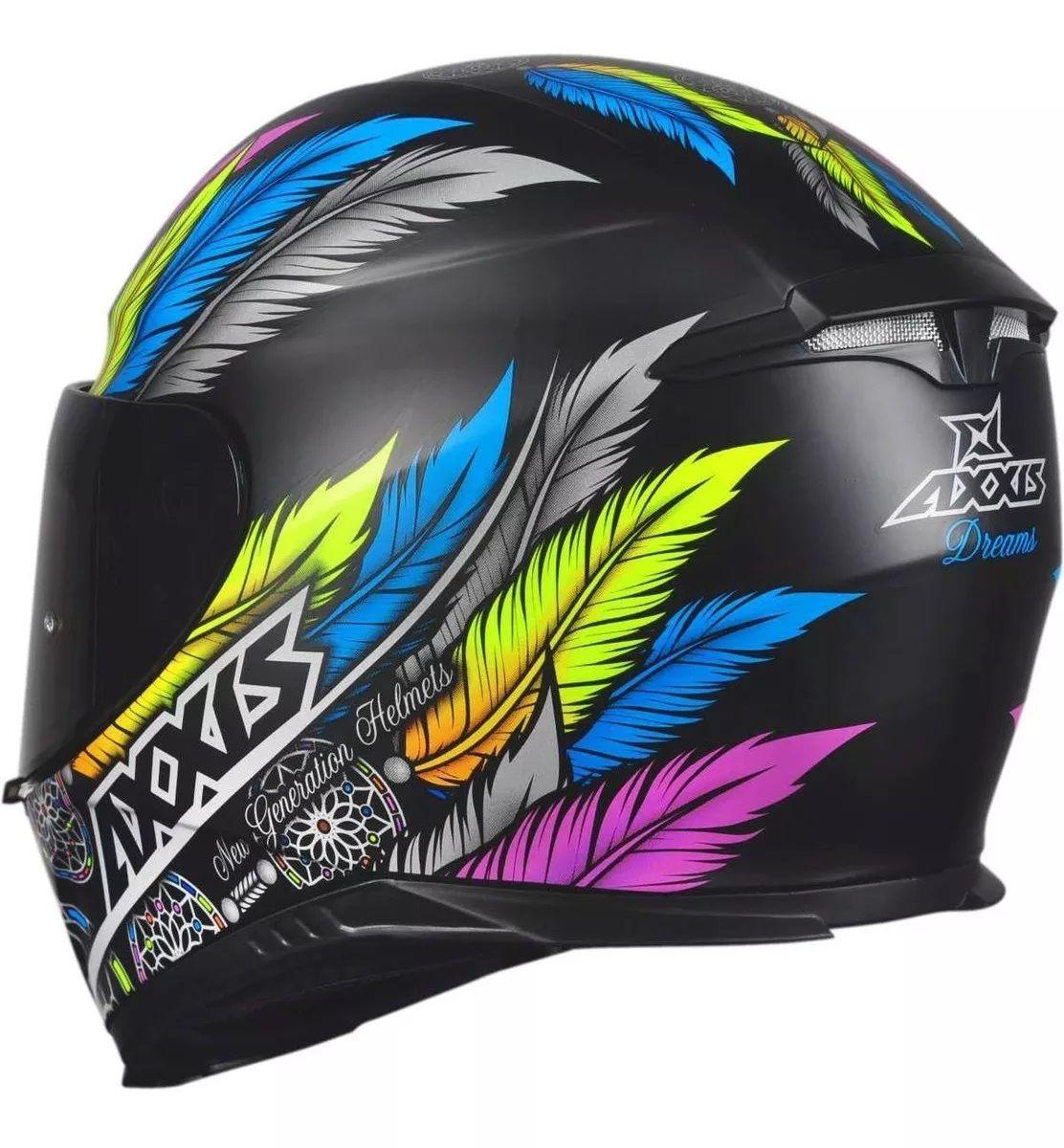 Capacete Axxis Draken Dreams Peninha  - Ditesta & Daihead - Moto Store