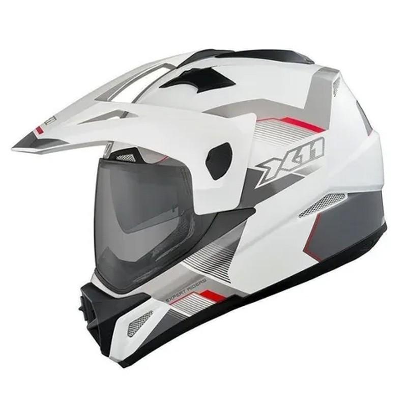 Capacete Crossover X11 X3 Oculos Interno Branco  - Ditesta & Daihead - Moto Store