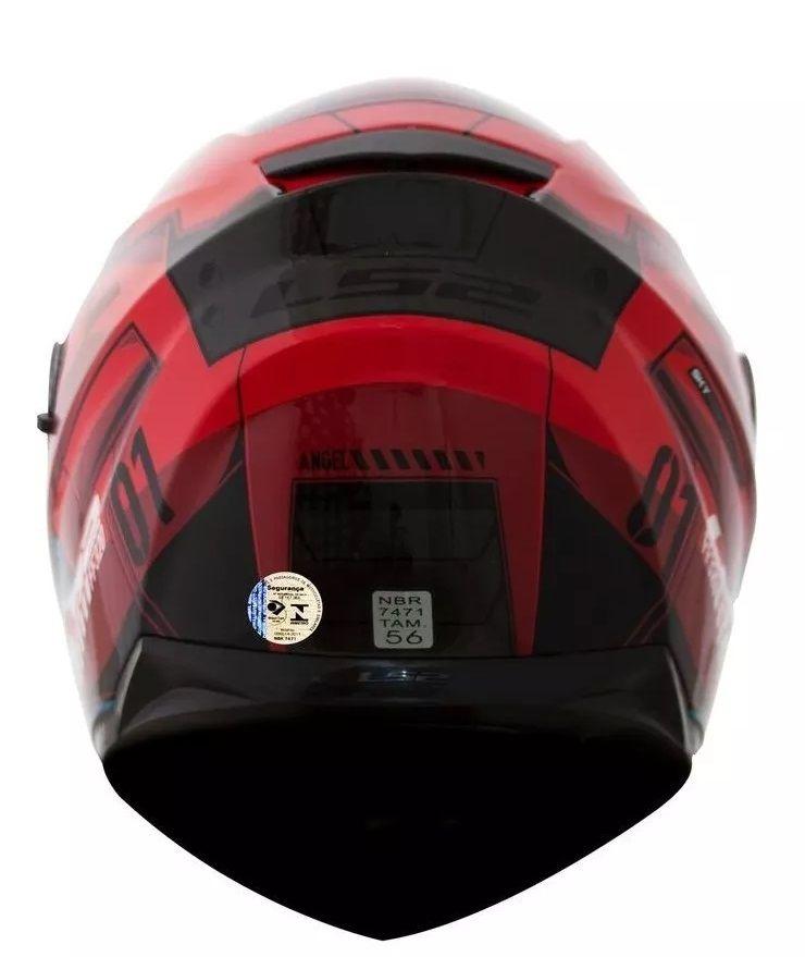 Capacete Ls2 Ff320 Stream Angel Vermelho C Viseira Solar  - Ditesta & Daihead - Moto Store