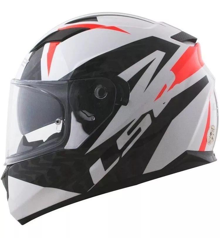 Capacete Ls2 Ff320 Stream Comander Preto Branco Vermelho  - Ditesta & Daihead - Moto Store