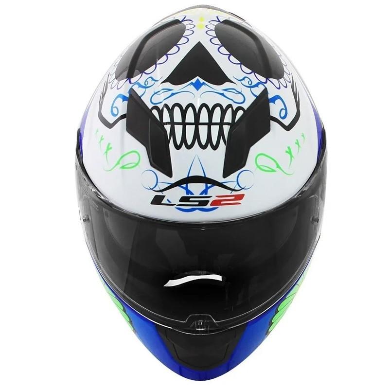 Capacete Ls2 FF320 Stream Couture Azul   - Ditesta & Daihead - Moto Store